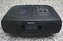 Vintage Sony ICF-CD820 CD Clock AM/FM Radio Dual Alarm Clock Cleaned Tested LOOK