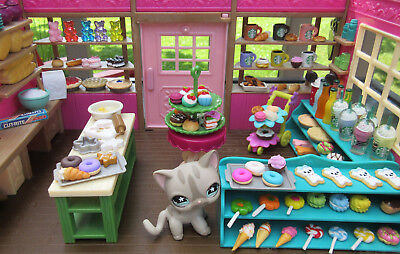 LITTLEST PET SHOP RANDOM LOT OF 10 CUTE CUPCAKE DONUT COOKIE TREAT ACCESSORIES  - Littlest Pet Shop Cupcakes