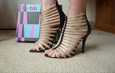 Special Ocassion Shoes (Bebo,Black&Nude strappy Stiletto Shoes/Heels,Special)