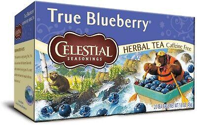 Celestial Seasonings Tea Caffeine Free Herbal Tea, True Blueberry 20 - Caffeine Free Herbal Tea