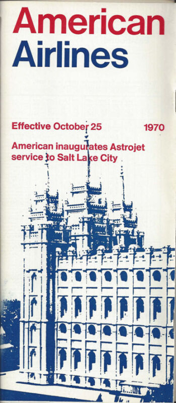 American Airlines system timetable 10/25/70 [0098]