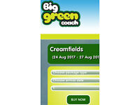 Big green coach to Creamfields