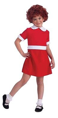Annie Musical Little Orphan Girl Movie Fancy Dress Up Halloween Child Costume