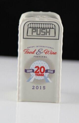 New Disney Parks 2015 EPCOT Food & Wine Festival Salt / Pepper Trashcan Shaker