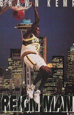 90S Costacos Mini Promo Poster Shawn Kemp Super Sonics