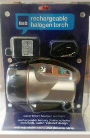 Rechargeable halogen torch super bright spotlight