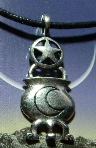 Wicca Occult Spiritual Rebirth Cauldron Pendant