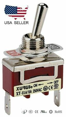 Heavy Duty Spst On-off Toggle Switch 20a 125v 15a 250v Spade Terminals 11a