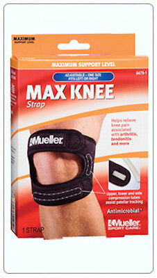 Mueller Max Knee Strap Brace Support 59857 Black OSFM