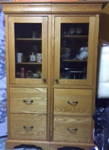 Hand Crafted, Solid Oak Cabinets *MUST GO*