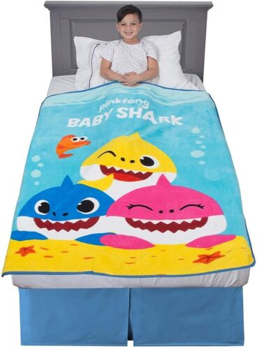 "Throw Blanket For KIds 46"" X 60"" Baby Shark 100% Microfiber Free Shipping"