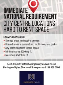 City Centre Locations Hard to Rent Space