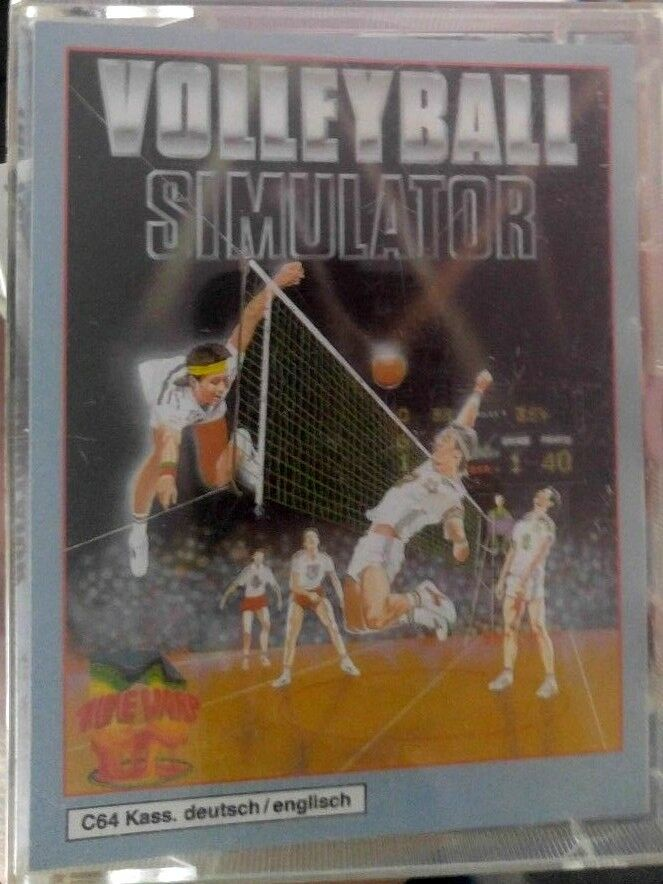Volleyball Simulator (Softgold) Commodore C64 (Tape) (Game Box Manual) 100% ok