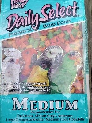 PRETTY BIRD PELLETS daily select medium, parrot food, african amazon conure 20lb