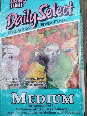 PRETTY BIRD PELLETS daily select medium parrot food african amazon conure 20lb