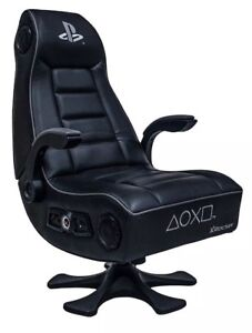 X Rocker PlayStation Infiniti+ 4.1 High Back Vinyl Gaming Chair/ Speakers  Black