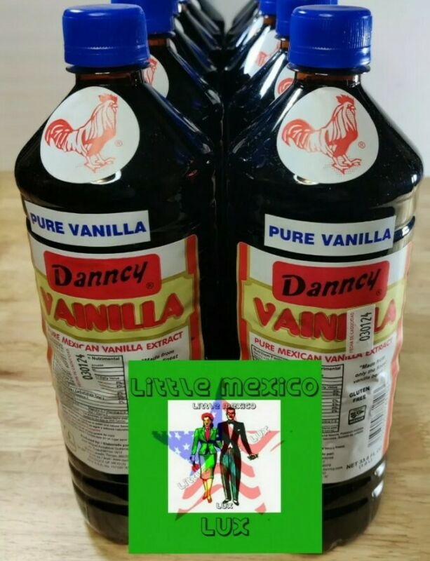 2 X Danncy Dark Pure Mexican Vanilla Extract From Mexico 🤩33.8 Oz Each 2🤩🤩🤩