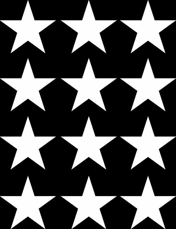PATT:GLS - STAR - Stars - Glossy Vinyl Transfer Decals ©YYD