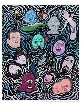 X-Files Sci-Fi T.V. Interpretive Halloween Monster Mash Artwork Giclée on Paper (Halloween X Files)