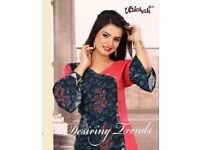 VAISHALI DRESSING TREND PARTY WEAR LONG FANCY KURTI COLLECTION WHOLESALE PRICE