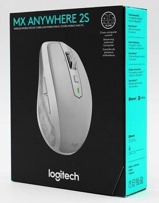 Logitech MX Anywhere 2S - Wireless Mobile Mouse/Maus White/Grau-Weiß - Neu & OVP - White Mobile Maus