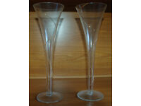 Pair of champagne flutes