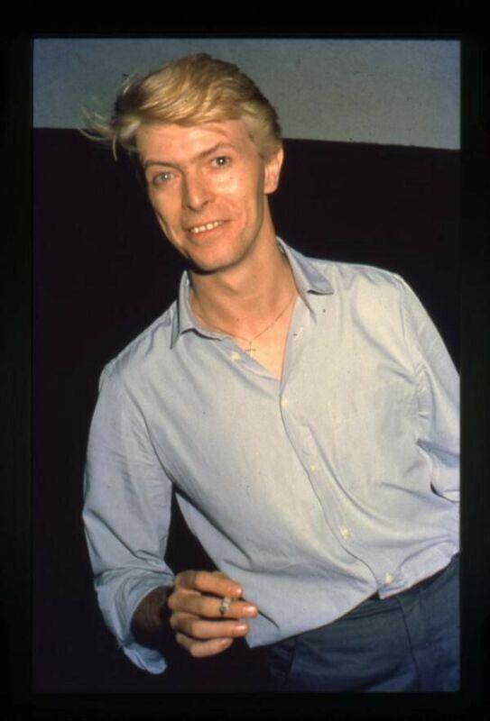 David Bowie Rock Legend Photographer Stamped Original 35mm Transparency Slide