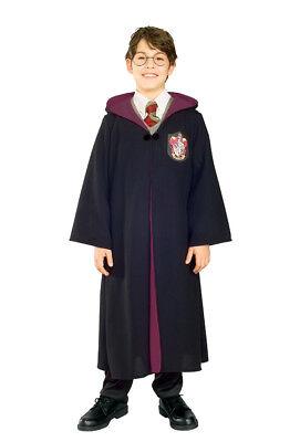 Jungen Kinder Lizenziert Deluxe Harry Potter Robe Kostüm Outfit (Kind Deluxe Harry Potter Kostüme)