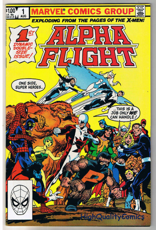 ALPHA FLIGHT #1, VF/NM, Wolverine, John Byrne, 1983, more in store