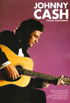 Johnny Cash Chord Songbook Texte und Akkordsymbole für Gitarre ohne Noten