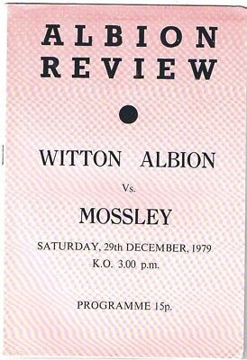 Witton Albion v Mossley 1979/80