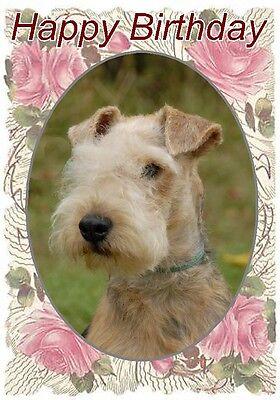 Lakeland Terrier Dog Design A6 Textured Birthday Card BDLAKELAND-2 by paws2print