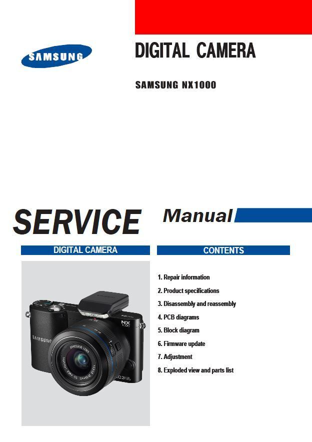 Details about Samsung NX1000 Mirrorless Digital Camera Service Manual  Repair Guide