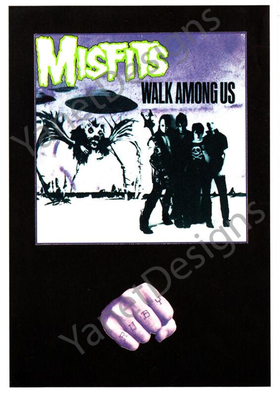 Misfits Postcard Walk Among Us Glenn Danzig Original Issue Collectable 4x6 1982