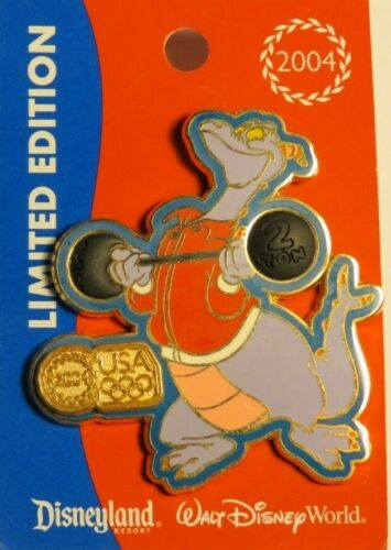 DISNEY WDW USA OLYMPIC LOGO WEIGHTLIFTING FIGMENT 2004 FREE D LE 2004 PIN