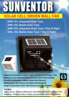 Solar Powered Vents / Exhaust Fan for Shipping Containers, Sheds