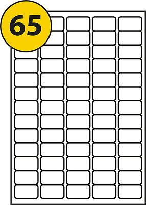 65 labels per sheet 100 Sheets, Label 38.1 x 21.2mm L7651 &J8651 compatible