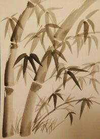 Japanese Sumi-e ( black ink brush painting) workshop.