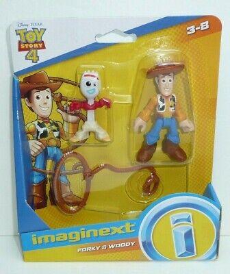 Imaginext Toy Story 4 Woody & Forky Action Figures Set Disney Pixar Lasso Fork