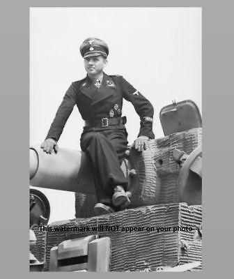 German Ace Tiger Tank Commander Michael Wittmann PHOTO Waffen SS, World War 2