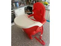 Mothercare child dining booster seat with table