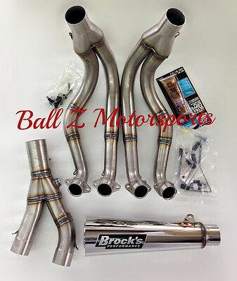 """99-17 Hayabusa Brock's Peformance Polished 14"""" Short Meg 2 Full Exhaust System"""