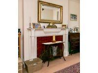 Elegant Fireplace surround - wood painted white