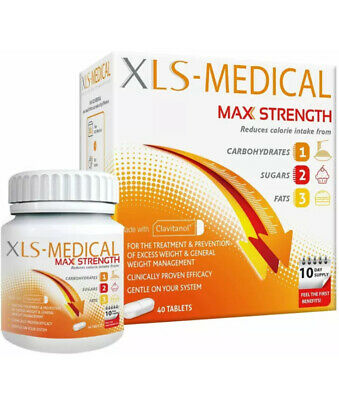 XLS Medical Max Strength Fat Loss Weight Management Slimming Aid 40 Tablets