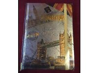 Brand new in packaging London note book can post