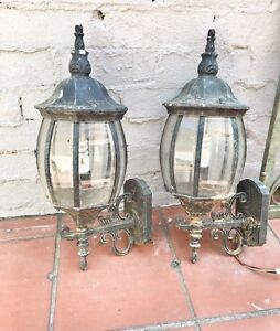 Matching Pair of Antique Outdoor Lamps Marrickville Marrickville Area Preview