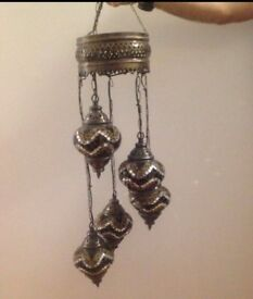 Authentic Turkish 5 Tier Glass Light Fitting- £30 ONO