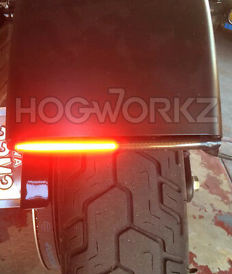 Harley Davidson LED Integrated Fender Brake Tail Light Turn Signal Bar - SMOKE