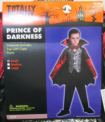 Boys Halloween Costume Prince of Darkness Vampire Totally Ghoul Size Small NOS - Dark Prince Halloween Costume
