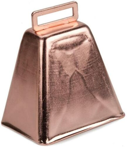 """Darice Copper 3"""" Cow Bell  """"New In Package"""" Sounds Great"""
